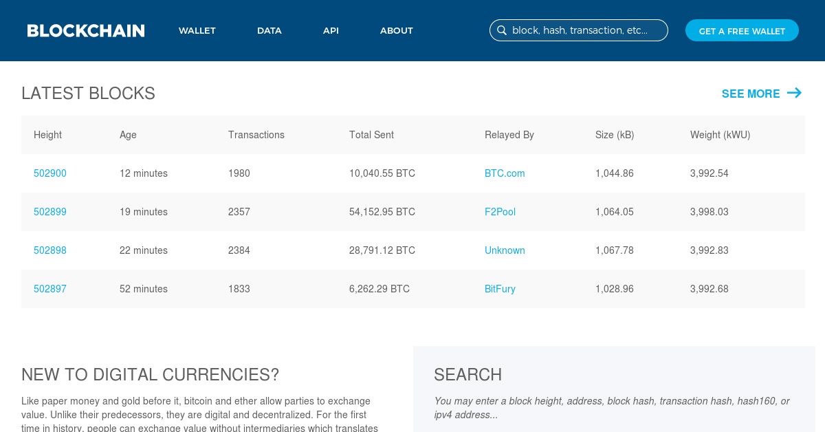 Blockchain.info Transaction Explorer