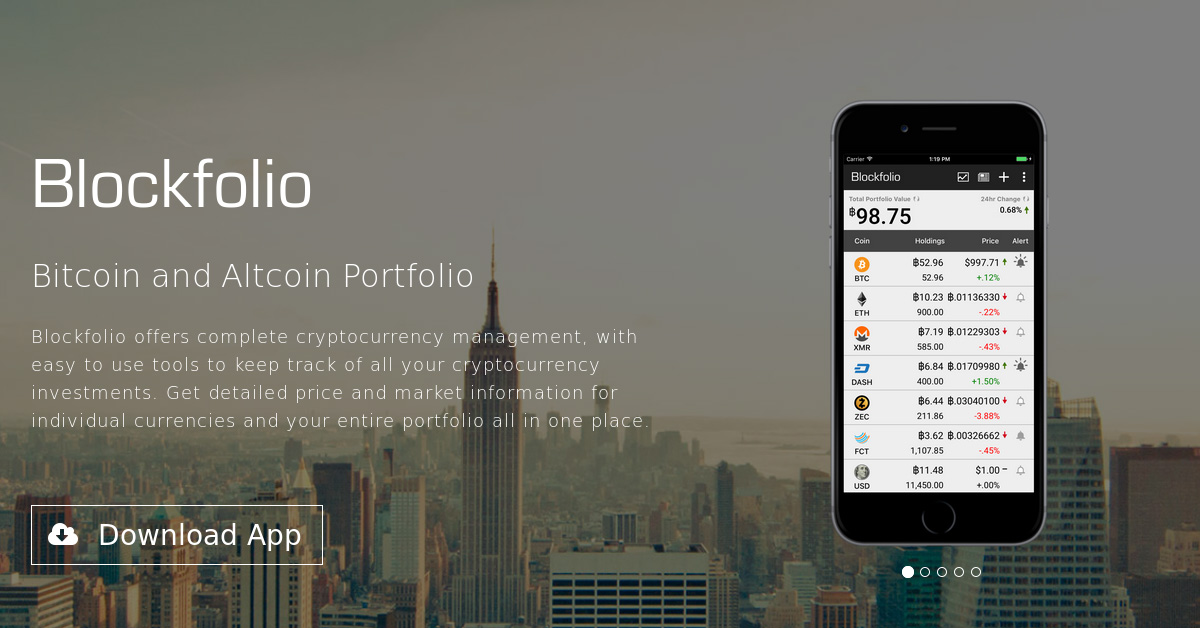 Blockfolio - Mobile Bitcoin and Altcoin Portfolio App