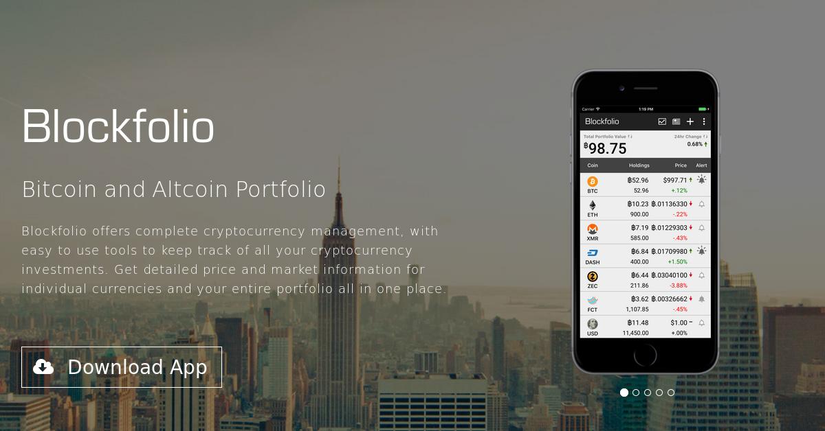 Blockfolio - Mobile Bitcoin and Altcoin Portfolio App