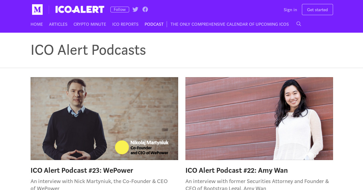 ICO Alert Podcasts